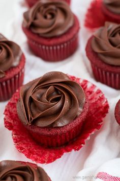 These Chocolate Rose Red Velvet Cupcakes look as beautiful and smell as sweet as a dozen red roses but with how good they taste they won't be around for too long!