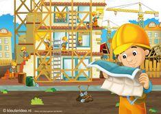 Interactieve praatplaat voor kleuters, thema 'wij bouwen een huis' , kleuteridee by juf Petra, by ThingLink School Art Projects, Art School, Love You Dad, Home Schooling, Building A House, Kids, Crafts, Petra, Build House