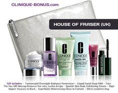House of Fraser Clinique bonus time - for United Kingdom - 7piece gift.