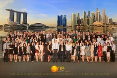 The Tiger Balm International Marketing Conference takes place each year. Pictured here are more than 100 representatives from 40 countries who attended the 2014 conference in Singapore.