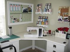 Love this sewing area, needs a few changes to make it  my own!