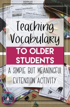 Teaching vocabulary in high school? Try this simple yet meaningful extension activity. High School Activities, High School Science, Vocabulary Activities, Ela High School, High School Biology, Listening Activities, Spelling Activities, High School Spanish, High School History