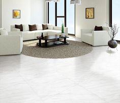 BuildDirect – Porcelain Tile - Carrara Venato Series – Venato - Living Room View