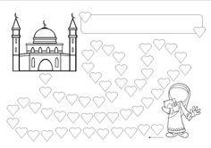Sticker reward charts -    Masjid and hearts or Ka'ba and stars