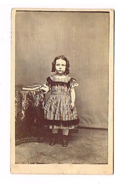 MAINE  ESTATE CDV  Such A Darling Girl Civil War Era Dress Low Neck