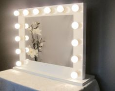 Vanity mirror with desk lights pinterest desk light vanities hollywood lighted vanity mirror large makeup by crafterscalendar aloadofball Gallery