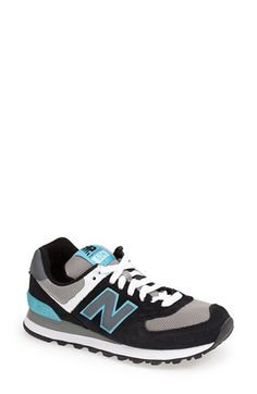 New Balance '574' Sneaker (Women) Black/ Blue Size 12 B - $70 on Vein - getvein.com