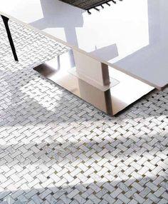 #SICIS #Mosaic #Tile -- basket-weave is noce, too.