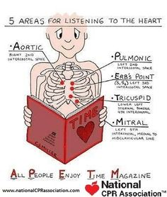Mnemonics For nursing: Heart Auscultation #nurse #assessment #nationalCPRassociation #nationalCPR