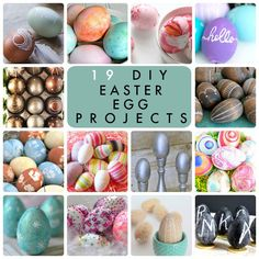 19 DIY Easter Egg Projects! So many great ideas for decorating eggs! -- Tatertots and Jello