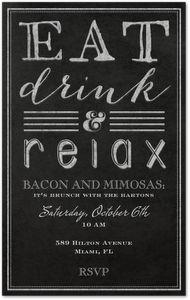 Evite Postmark Happy Hour Party Menu Time Dinner Invitations
