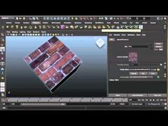 MAYA 3D ModellingTutorial - Materials and texturing in Maya - Tutorial on how to setup materials and apply a planar projection with textures
