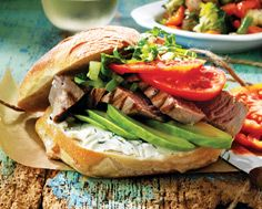 Lemony Tuna Sandwiches with Dilled Chèvre & Avocado and Marinated Vegetables
