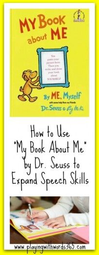 How to use My Book About Me to Expand Speech Skills in Young Children {Virtual Book Club for Kids}