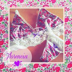 ♡Florencia Romántica ♡ #triangulitos #ahorarosaura #lenceriadediseño #tanga #flores  #puntilla #encaje www.ahorarosaura.com.ar