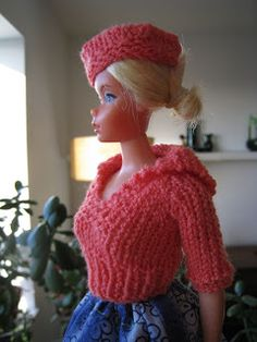 Best Barbie Knits: FREE PATTERN - Barbie Pullover with Sailor Collar
