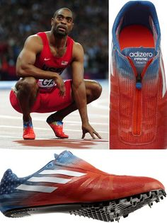 Tyson Gay Adidas Track Spikes - New Shoes by Tyson Gay - Esquire Sprint Spikes, Track And Field Spikes, Track Field, Sprint Workout, Workout Gear, Sports Clips, Michael Johnson, Cross Country Running, Sports Footwear