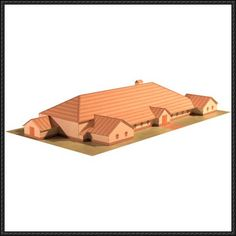 This building paper model is a Roman Villa, based on information from two sources. The paper model was designed by armadamodels. The floor plan is a direct copy of the roman villa excavated at Bancroft, Milton Keynes, between 1973 and 1985. This villa dates from between AD 170 and AD 340.