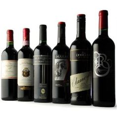 An assortment of red wines. Clancey's is a very nice wine.
