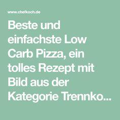 Beste und einfachste Low Carb Pizza, ein tolles Rezept mit Bild aus der Kategorie Trennkost. 155 Bewertungen: Ø 4,4. Tags: Backen, Hauptspeise, Käse, Pizza, Trennkost