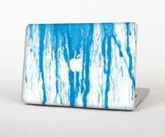 """The Running Blue WaterColor Paint Skin Set for the Apple MacBook Air 13"""" from Design Skinz, INC."""