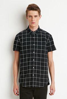 Grid Print Shirt | 21 MEN - 2000155021
