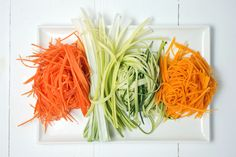 vegetable spaghetti -must try the pumpkin and sweet potato