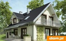 Elewacja AN TURKUS CE Home Fashion, Homesteading, House Plans, House Design, Cabin, Mansions, Architecture, House Styles, Outdoor Decor