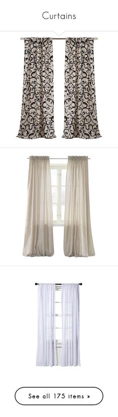 """Curtains"" by beautifuldistroyer ❤ liked on Polyvore featuring home, home decor, window treatments, curtains, semi sheer curtains, birch curtains, graphic print curtains, rod pocket curtains, rod pocket curtain panels and windows"