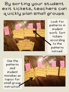 Plan your small groups by using exit tickets. Exit tickets or exit slips should take students less than five minutes to complete at the end a lesson. Teachers can group tickets by patterns and then plan small groups QUICKLY! Persuasive Writing, Writing Rubrics, Paragraph Writing, Opinion Writing, Math Lesson Plans, Math Lessons, Common Core Math Standards, Eureka Math, Exit Slips