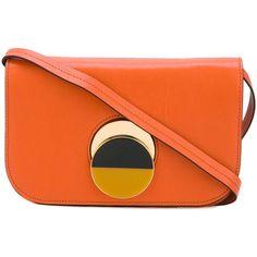Marni Pois crossbody bag (€1.035) ❤ liked on Polyvore featuring bags, handbags, shoulder bags, purses, orange purse, orange crossbody, handbags crossbody, shoulder handbags and crossbody purses