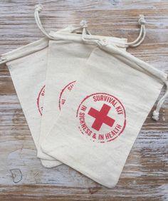 25 Survival Kits Hochzeit Gunst Taschen von EverlongEvents auf Etsy