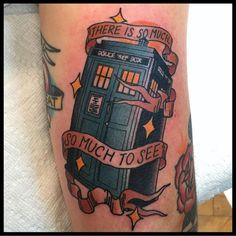 Love my new tattoo! #DoctorWho @DoctorWho_BBCA #tardis #tattoo