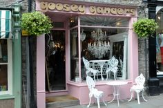 Goosey Ganders, High Town, Hay-on-Wye, UK. Elegant recycling of everything beautiful. Herefordshire, Antique Shops, England, Recycling, Explore, Beautiful, Elegant, Classy, Chic