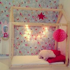 House bed in a beautiful room. #kids #decor