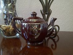 Vintage Chocolate Brown Japanese Teapot by maggiecastillo on Etsy, $12.00