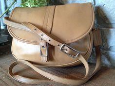COACH Tan Leather Shoulder Crossbody 9824  #Coach #MessengerCrossBody