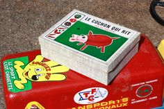 #Le cochon qui rit # Piggyto #Gordita #Gordito #Piggyta www.jeuxdujardin.fr #Vintage