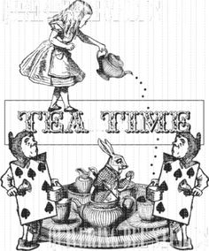 Alice in Wonderland Tea Time Party Digital by QuiveringBeeStudios