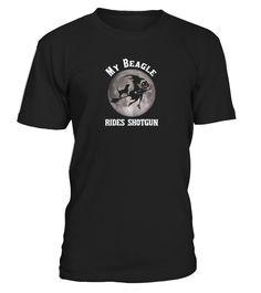 Halloween T shirt MY BEAGLE RIDES SHOTG  #birthday #october #shirt #gift #ideas #photo #image #gift #costume #crazy #halloween