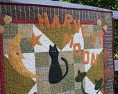 Harvest Moon Quilted Autumn Wall Hanging
