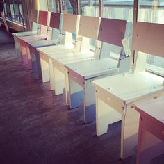 Children\'s chairs at Piet Hein Eek