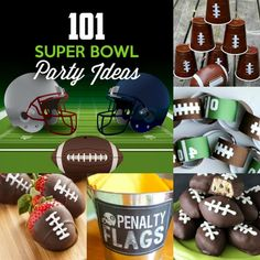 101 ideas to make your Super Bowl party a total touchdown! Get tips on DIY decor, food, fun and games, and themed party supplies!