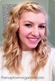 braided wavy / curly / beachy hair style