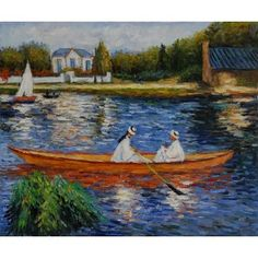 Renoir - Boating on the Seine Oil Painting  OverArts.com