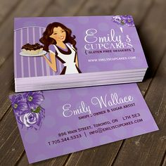 Sugar Artist Business Cards. You can customize this card with your own text, logo, photo, or use this pre-existing template for FREE.