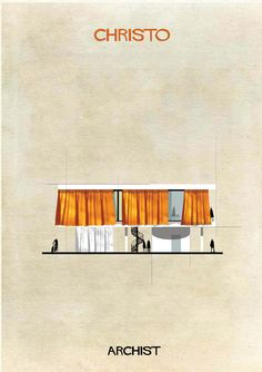 Christo in architectural form. Illustrator Federico Babina's Archist imagines artists as architecture, studying the influence contemporary art has on modern design. More from the series at our site.