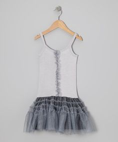 Take a look at this Silver Star Glitter Drop-Waist Dress - Infant, Toddler & Girls by Bye Bye Birdie on #zulily today!