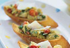 Crostini cu anghinare Guacamole, Baked Potato, Tacos, Potatoes, Mexican, Vegan, Baking, Ethnic Recipes, Food