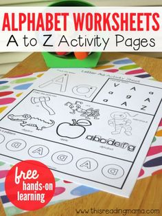 Alphabet Worksheets - FREE A to Z Activity Pages | This Reading Mama: